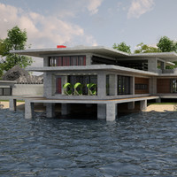 villa 03 lakeside v2 3d model
