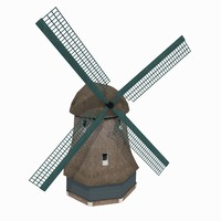 building windmill netherlands museum 3d 3ds