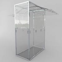 3d model of kiosk 01