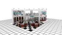 3d model turkuaz exhibition design