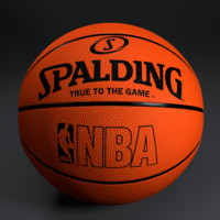 photorealistic basketball spalding 3d model