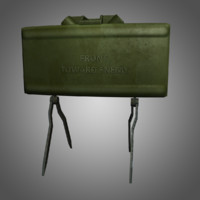 3ds max m18a1 claymore anti-personnel