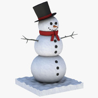 realistic snowman max