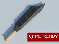 3d sword polys model