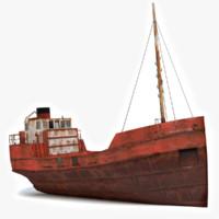 Rusty Cargo Ship