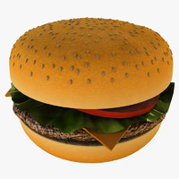 cheeseburger burger cheese 3d model
