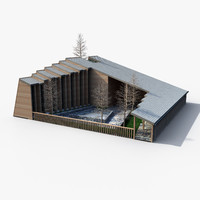 3d model church wooden
