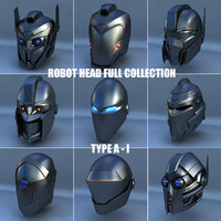 3d model of robot head type -