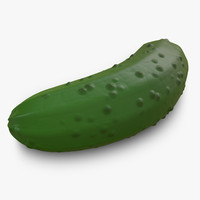 pickle cucumber displacement 3d model