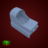 free mini red dot 3d model
