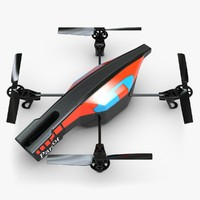 quadrocopter ar drone 2 3d 3ds