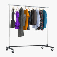3d clothing rack