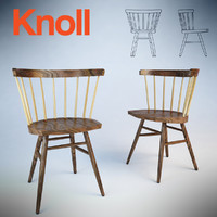 straight chair nakashima 3d model