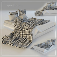 3dsmax bed linen