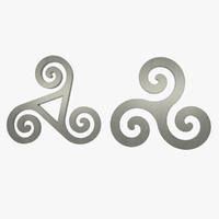 3d triskele symbol
