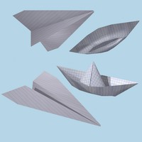 3d model paper airplane ship