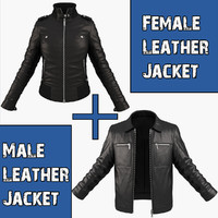3d model of pack jackets woman character
