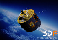 european esa satellite jason 3d model