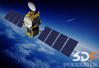 european esa satellite msg 3d max