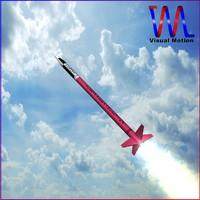 3d model sounding rocket