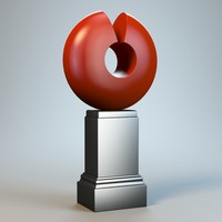 3d abstract figure m035 model