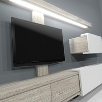 maya furniture tv wall unit