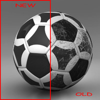 3d ball soccer black