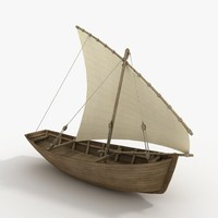 3d model dhow boat