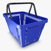 realistic shopping basket 3ds