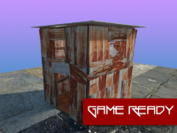 3d model of slum shack
