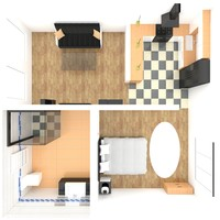 apartment 3d obj