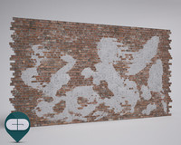 brick wall with old plaster repeatable
