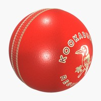 sports cricket ball kookaburra 3d model
