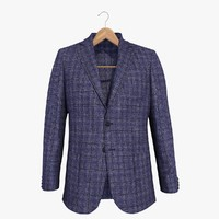 3d blue blazer jacket 2