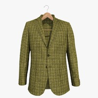 brown blazer jacket 2 3d model