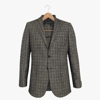 3d grey blazer jacket 2