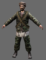3ds max afghan soldier