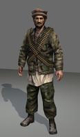 3d model afghan soldier