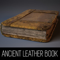 ancient book leather ma