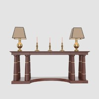 3d table lamps candlesticks console model