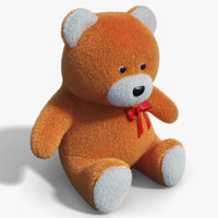 3d model realistic teddy bear 01