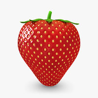 maya realistic strawberry