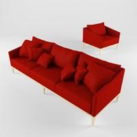 3dsmax sofa interior