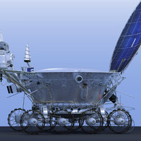 3d model lunokhod-2 n lunar rovers