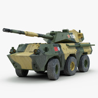 3ds max chinese ptl02 tank destroyer