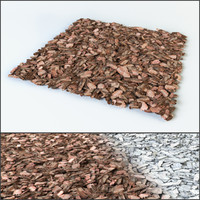 mulch pine bark 3d model