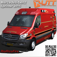 sprinter van 3500 rioricofire 3d model