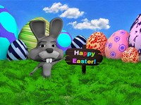 3ds max easter bunny rabbit scene