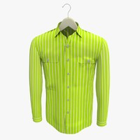 3d stripe yellow shirt hanger model