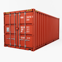 3d container 20ft
